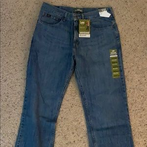 Lee premium relaxed straight leg jeans size:36x32